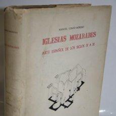 Libros: IGLESIAS MOZÁRABES. ARTE ESPAÑOL DE LOS SIGLOS IX A XI. TEXTO Y LÁMINAS - GÓMEZ-MORENO, MANUEL. Lote 263561050