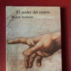 Libros: EL PODER DEL CENTRO. RUDOLF ARNHEIM. ALIANZA FORMA.. Lote 263568260