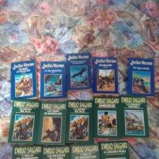 Libros: LOTE 7 DE VARIOS LIBROS, VER FOTOS, DE JULIO VERNE Y EMILIO SALGARI Y CLÁSICOS DE LA LITERATURA ESPA. Lote 263781955
