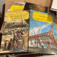 Libros: LOTE DE LIBROS DE HISTORIA DE TRANSPORTES. Lote 264315360
