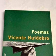 Libros: POEMAS.- HUIDOBRO, VICENTE. Lote 266613783