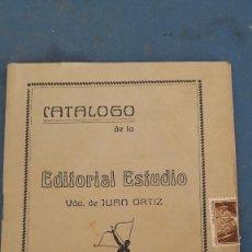 Libros: CATALOGO EDITORIAL ESTUDIO, VDA DE JUAN ORTIZ, PARA DIRECTORA DE ESCUELA GRADUADA CARLET (VALENCIA). Lote 266858019