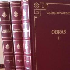 Libri di seconda mano: OBRAS DE LUCIANO DE SAMOSATA. VOLÚMENES I, III Y IV - LUCIANO DE SAMOSATA. Lote 267192689