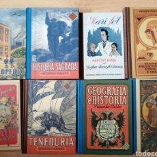 Libros: LOTE 8 FACSÍMILES LIBROS ANTIGUOS / EDITORIAL EDELVIVES. Lote 267744169