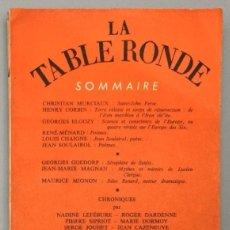 Libros: REVUE MENSUELLE LA TABLE RONDE, Nº 156 - DÉCEMBRE 1960 - VV.AA.. Lote 267780054