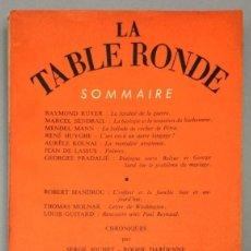 Libros: REVUE MENSUELLE LA TABLE RONDE, Nº 153 - SEPTEMBRE 1960 - VV.AA.. Lote 267781789