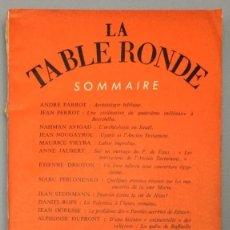 Libros: REVUE MENSUELLE LA TABLE RONDE, Nº 154 - OCTOBRE 1960 - VV.AA.. Lote 267783329