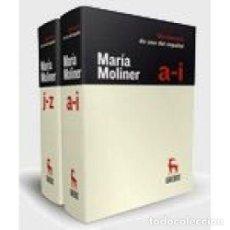 Libros: DICCIONARIO DE USO DEL ESPAÑOL 3ª ED - MOLINER RUIZ, MARÍA. Lote 267986049