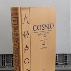 Libros: LOS TOROS 4. EL TOREO - COSSÍO. Lote 268315029