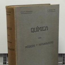 Libros: QUÍMICA PARA MÉDICOS Y NATURALISTAS - ANTONIO DE GREGORIO ROCASOLANO Y LUIS BERMEJO VIDA. Lote 268315324