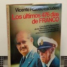 Libros: LOS ÚLTIMOS 476 DÍAS DE FRANCO - VICENTE POZUELO ESCUDERO. Lote 268315474