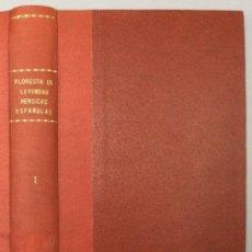 Libros: FLORESTA DE LEYENDAS HEROICAS ESPAÑOLAS: RODRIGO, EL ÚLTIMO GODO. TOMO I: LA EDAD MEDIA. - VV.AA.. Lote 268408179