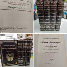 Libros: DICCIONARIO ETIMOLÓGICO DEL IDIOMA BASCONGADO PEDRO NOVIA DE SALCEDO 4 VOLS OBRA COMPLETA NU 278/700. Lote 268600179