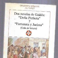 Libros: DOS NOVELAS DE GALDOS: DOÑA PERFECTA Y FORTUNATA Y JACINTA (GUIA DE LECTURA). Lote 267851244
