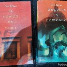 Libros: 2 DE DAN BROWN: EL CÓDIGO DA VINCI Y ÁNGELES Y DEMONIOS. Lote 268812234