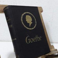 Libros: GOETHE. HISTORIA DE UN HOMBRE - EMIL LUDWIG. Lote 268994644