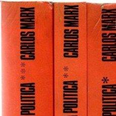 Libros: EL CAPITAL. CRÍTICA DE LA ECONOMÍA POLÍTICA - MARX, CARLOS. Lote 269064748