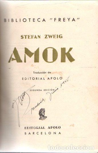 AMOK - ZWEIG, STEFAN (Libros sin clasificar)