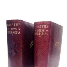 Libros: GOETHE, J. W. - OBRAS LITERARIAS / TRADUCCIÓN, RECOPILACIÓN, BIOGRAFÍA, PRÓLOGOS Y NOTAS DE R. CANS. Lote 269145193
