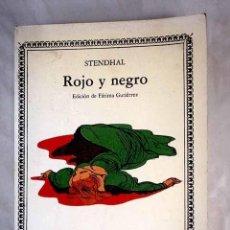 Libros: ROJO Y NEGRO.- STENDHAL. Lote 269334448