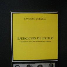 Libros: QUENEAU, RAYMOND - EJERCICIOS DE ESTILO. Lote 269459473
