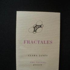 Libros: JANÉS, CLARA - FRACTALES. Lote 269459538