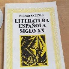 Libros: LITERATURA ESPAÑOLA SIGLO XX - SALINAS, PEDRO. Lote 269595703