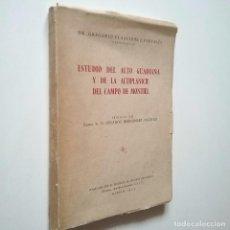 Libros: GREGORIO PLANCHUELO PORTALÉS - ESTUDIO DEL ALTO GUADIANA Y DE LA ALTIPLANICIE DEL CAMPO DE MONTIEL. Lote 269847533