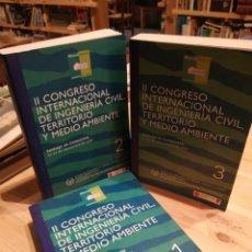 Libros: II CONGRESO INTERNACIONAL DE INGENIERÍA CIVIL, TERRITORIO Y MEDIO AMBIENTE. 3 TOMOS. Lote 269915563