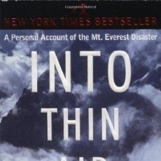 Libros: INTO THIN AIR: A PERSONAL ACCOUNT OF THE EVEREST DISASTER - KRAKAUER, JON. Lote 270396103