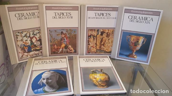 LOTE DE LIBROS TAPICES Y CERÁMICAS DISTINTOS SIGLOS (Libros sin clasificar)