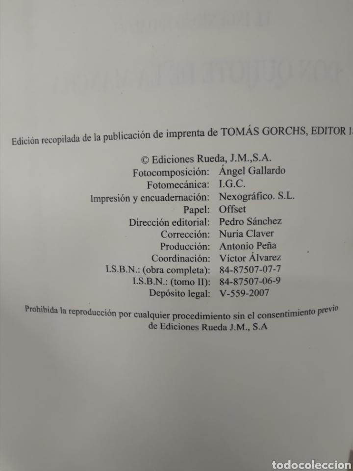 Libros: Don Quijote de la mancha Edt.Rueda 2007 - Foto 4 - 271068323