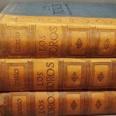 Libros: LOS TOROS TRATADO TECNICO E HISTORICO TOMO 3 TOMOS COSSIO ESPASA CALPE AÑOS 50 JOSE MARIA DE COSSIO. Lote 271127358