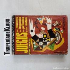 Libros: JUEGOS DE MANOS DE INGENIO DE PRENDAS Y DE SALÓN. - ANTONIO DE ARMENTERAS. DE GASSO. TDK61 -. Lote 271654793