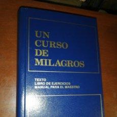 Libros: UN CURSO DE MILAGROS, TEXTOS LIBRO DE EJERCICIOS PARA EL MAESTRO, FOUNDATION FOR INNER PEACE. Lote 271798898
