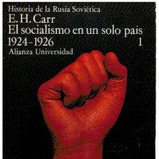Livros em segunda mão: TOMO I. EL SOCIALISMO EN UN SOLO PAÍS (1924-1926) TOMO 1. HISTORIA DE LA RUSIA SOVIÉTICA - E. H. CAR. Lote 273340578