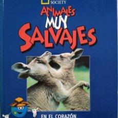 Libros: LIBRO NATIONAL GEOGRAPHIC ANIMALES MUY SALVAJES EN EL CORAZON DE AUSTRALIA. Lote 275330058