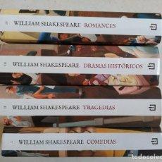 Libri di seconda mano: OBRA COMPLETA. DRAMAS, COMEDIAS, ROMANCES, TRAGEDIAS. 4 TOMOS. - WILLIAM SHAKESPEARE. TDK314. Lote 275580988