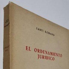 Livres: EL ORDENAMIENTO JURÍDICO. SANTI ROMANO.. Lote 276362538