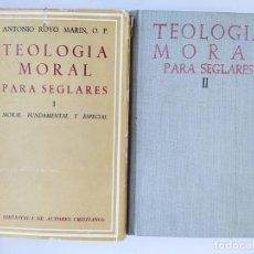Livros em segunda mão: TEOLOGÍA MORAL PARA SEGLARES I Y II. - ANTONIO ROYO MARIN. TDK348. Lote 276444018