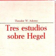 Libri di seconda mano: TRES ESTUDIOS SOBRE HEGEL - ADORNO, THEODOR W.. Lote 276783663