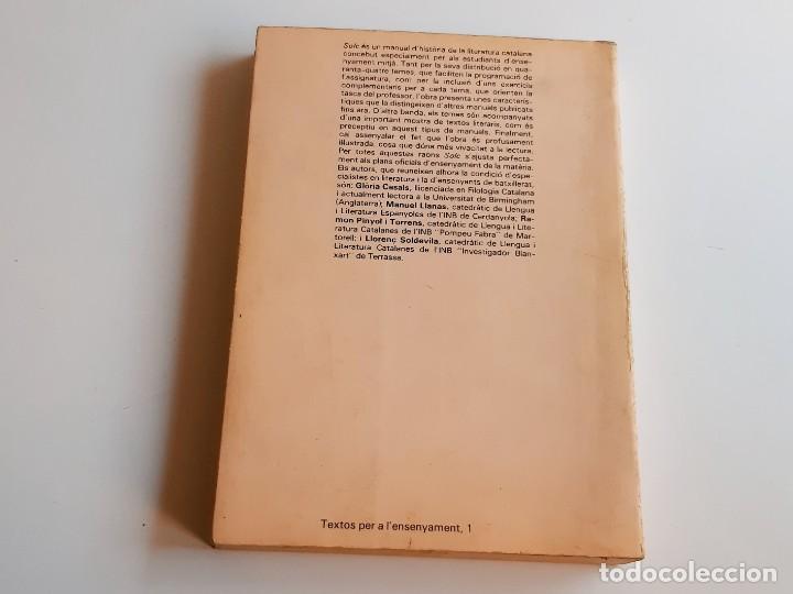Libros: LIBRO SOLC - LITERATURA CATALANA - 17 X 24.CM - Foto 3 - 276912273