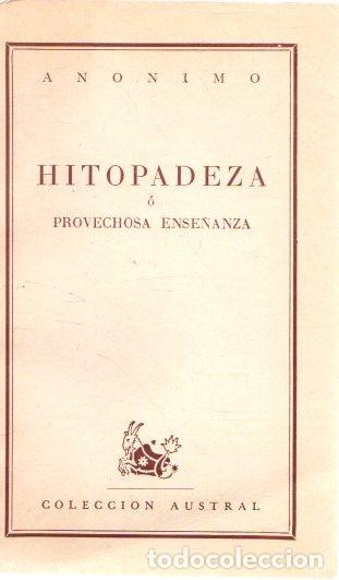 HITOPADEZA Ó PROVECHOSA ENSEÑANZA - ANÓNIMO (Libros sin clasificar)