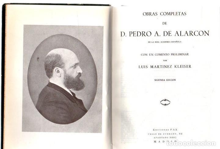 OBRAS COMPLETAS - ALARCÓN, D. PEDRO A. DE (Libros sin clasificar)