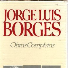 Libros: OBRAS COMPLETA. I, II Y III - BORGES, JORGE LUIS. Lote 276993433