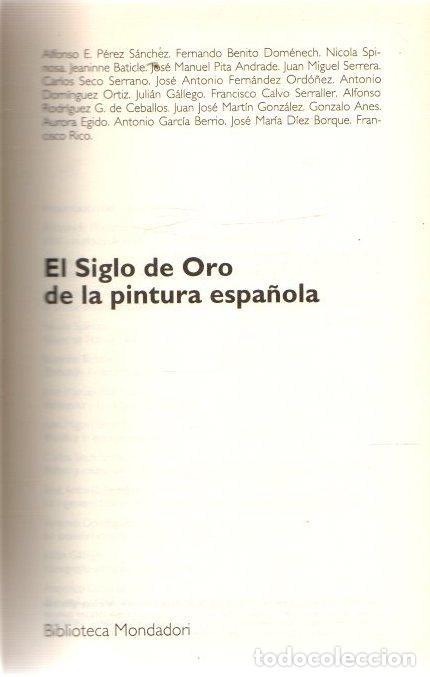 EL SIGLO DE ORO DE LA PINTURA ESPAÑOLA - NO CONSTA AUTOR (Libros sin clasificar)