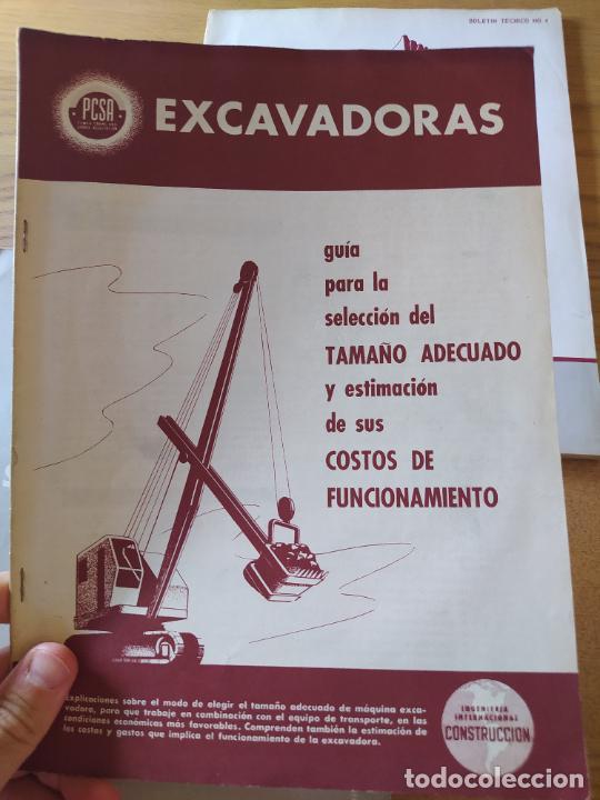Libros: Obras Publica, Lote de 3 boletines sobre el uso, mantenimiento, etc. de las maquinas. Años 60 - Foto 2 - 277049953