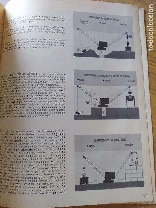 Libros: Obras Publica, Lote de 3 boletines sobre el uso, mantenimiento, etc. de las maquinas. Años 60 - Foto 12 - 277049953