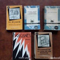 Libros: LOTE 5 LIBROS DOSTOIEWSKY PIO BAROJA J.A.ZUNZUNEGUI VICENTE JIMENEZ. Lote 277086598