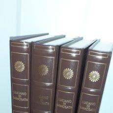 Libri di seconda mano: LUCIANO DE SAMOSATA. OBRAS I,II,III,IV. BIBLIOTECA GREDOS. 137,138,139,140. Lote 277128448